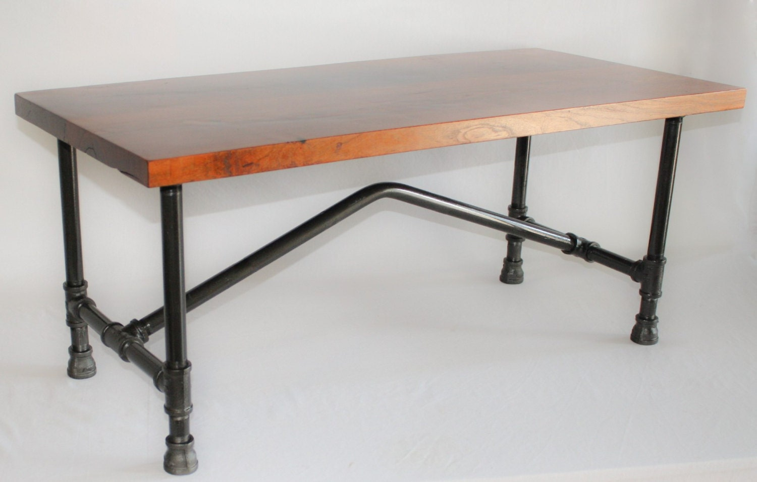 Industrial Mesquite Coffee Table With Black By Rusticliveedgeco