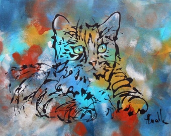 Painting The look of the cat