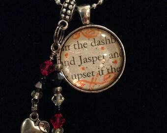 Twilight Book Necklace - Jasper