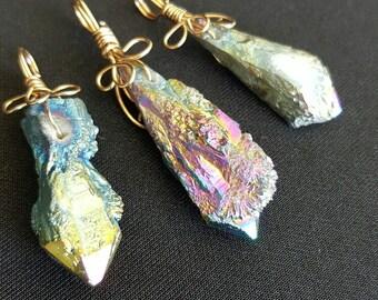 Rainbow Angel Aura Pendant