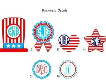 Patriotic Decals