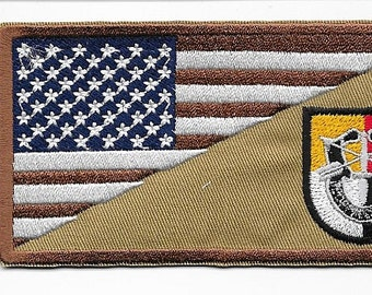 Green Beret Afghanistan & Iraq US Army 3rd Special Forces Group Airborne Patch