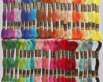 50 Anchor Embroidery Cotton Thread  Skeins / Floss SET-2