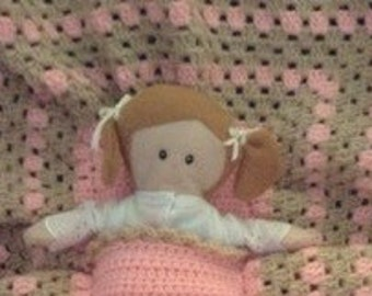 Doll with Blanket