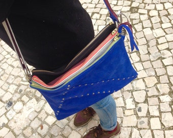 3 in 1 Tina leather bag / funny and different everyday bag