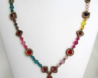 Rainbow Swarovski Crystal   set