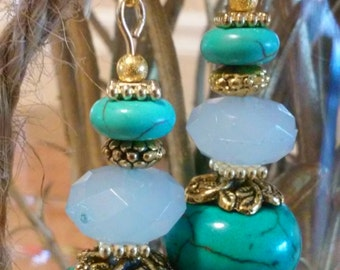 Gorgeous southwest style dangle earrings. ...