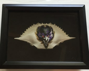 Hand Painted Baltimore Ravens Crab Shell