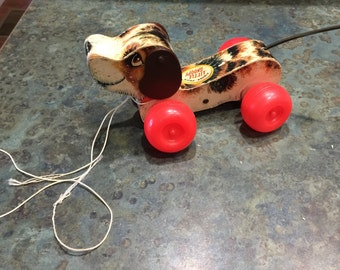 Fisher Price Little Snoopy Pull Toy 1960 Era