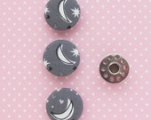 Moon Fabric Covered Buttons 1 Inch | 3 Shank Buttons 26mm