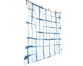 SQUARES: Indigo Shibori Flour Sack Dishcloth / Towel, Large-Hand Dyed