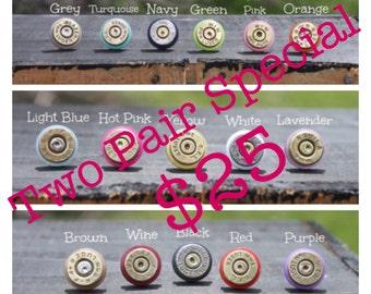 Two Pair Special - Colorful Bullet Earrings