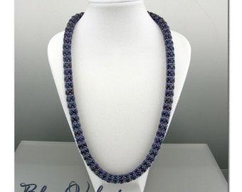 Blue Velvet daydreamer beaded rope necklace