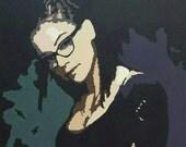 Orphan Black Cosima Original Acrylic Painting on Canvas 20x20 Clone