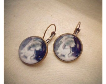 Hound Dog vintage photo earrings