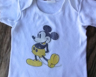 Vintage 1970s Mickey Mouse T Shirt Baby Infant 6 Months 2015360