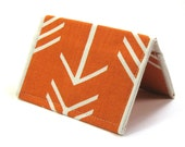 Card Case Wallet - Orange Arrow Fabric