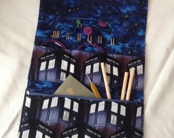 Interchangeable Knitting Needle Case - Doctor Who - Tardis