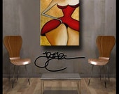 Original Abstract painting Modern Home Decor HUGE Canvas Wall Art Sexy by Fidostudio