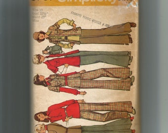 Simplicity Misses' Unlined Jacket, Shirt  and Pants Pattern 5797