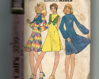 McCall's Misses' Dress and Vest For Unbonded Stretchable Knits Pattern 3239