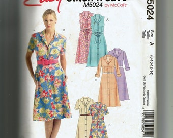 McCall's Misses' /Miss Petite Dress and Bias Sash Pattern 5024