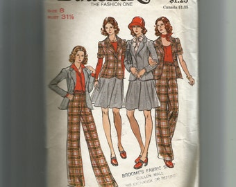 Butterick Misses'  Jacket,  Skirt, and Pants Pattern 3499