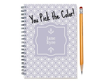 2016 2017 2018 Monthly Planner, Personalized Journal, 12 or 24 Mo. Calendar Notebook, Start Any Time, 2017, Add Your Name, SKU: pn dia2