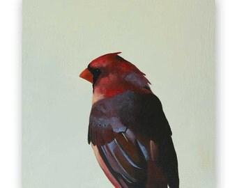 Cardinal - 8 x 8 Wings on Wood Decor