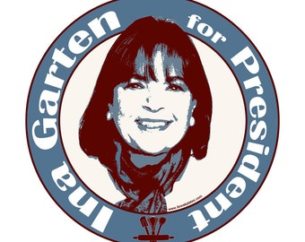 Ina Garten for President 4 Inch Sticker