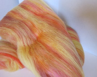 Fiber Batt - Alpaca Merino Silk  3 5/8oz  104 Grams (Aloha Leis)