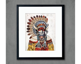 American Heritage (Chief Bison) Print on Paper