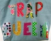 Trap Queen Blue Linen Tote Bag