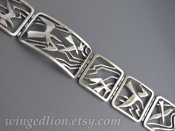 SEAGULLS sterling silver bracelet - Ready to ship