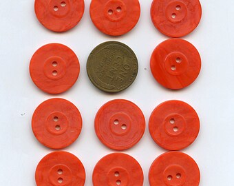 ToMATO RED Set of (12) Vintage Matching Small 3/4 inch size 1333 MORE AVAILABLE