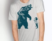 FIERCE - (Boy Version)- giant bear roar boy courage - mens / unisex short sleeve t shirt - 6 Color Choices