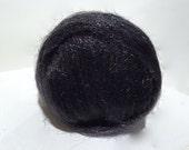 Near Black, Sparkly Firestar, Needle Felting, Spinning Fiber, charcoal black, .5 oz, similar to Icicle Top, natural black, halloween