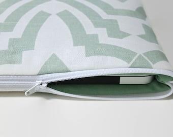 Women's iPad Pro 9.7 Sleeve, Girl's iPad Pro 12.9 Case, iPad Air 2 Cover, iPad mini Tablet Case - Temple Mint