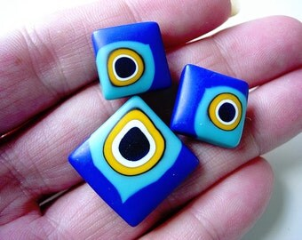 Neat Handmade Fimo Clay Buttons