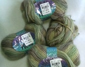 Poem from Wisdom Yarns, color 517 muted light green and light plum brown