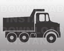 Dump Truck SVG File, Construction SVG-Cutting Template-Vector Clip Art Commercial & Personal Use-Download-Cricut,Cameo,Explore,Silhouette
