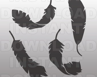 SVG File,Feather SVG File,Feathers SVG File-Cutting Template-Vector Clip Art for Commercial & Personal Use-Cricut,Cameo,Silhouette,Vinyl