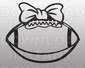 Football Bow SVG File Cutting Template-Clip Art for Commercial and Personal Use - vector art file for Cricut, SCAL, Cameo, Sizzix, Pazzles