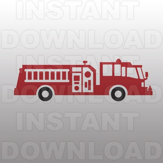 Fire Engine Fire Department Svg File Cutting Template