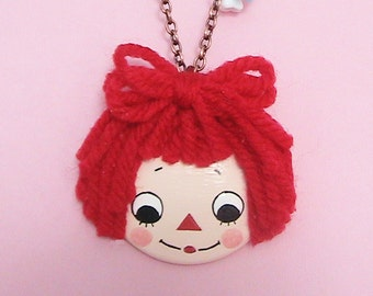Ann Doll Face Necklace