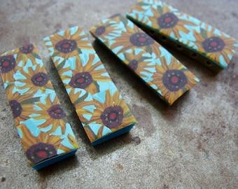 Van Gogh's Sunflower 6-Hole Spacer Bead