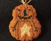 Needle Punch Pin Fall Star Primitive Pumpkin