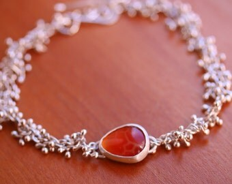 Snakeskin Agate Bracelet with Sprout Chain