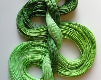 "Size 10 ""Celery"" hand dyed thread tatting crochet cotton"