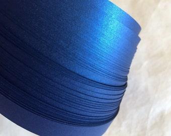 """1/4"""" Weaving Star Paper~ Shimmer Blue Satin (50 strips)"""